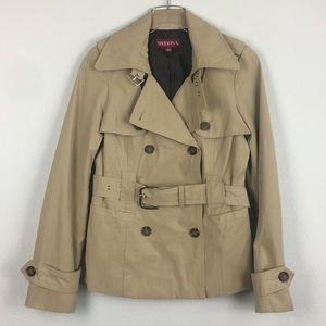 Merona | Khaki Short Trench Coat | Small